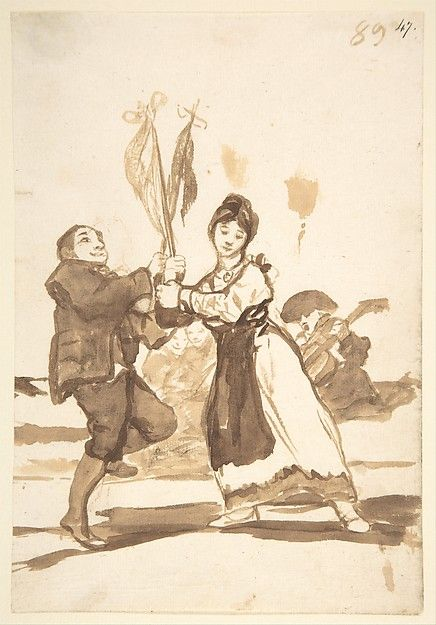 Goya (Francisco de Goya y Lucientes) (Spanish,1746–1828). Provincial Dance, from Images of Spain Album (F), 89,1812–20. The Metropolitan Museum of Art, New York. Harris Brisbane Dick Fund, 1935 (35.103.47)