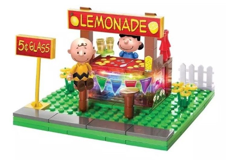 Peanuts Movie Lite Brix Lemonade Stand | eBay