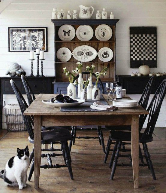 Best Dining Room Images On Pinterest China Cabinets China - Black farmhouse table and chairs