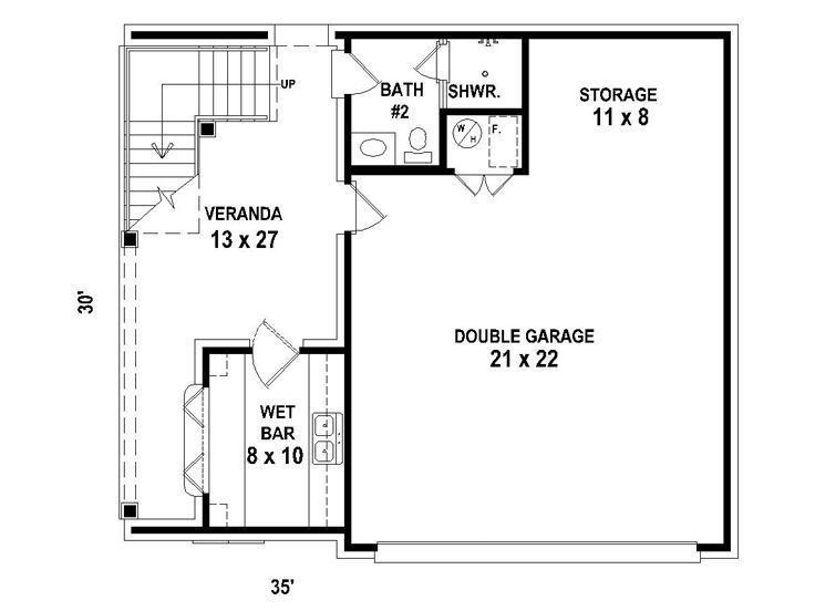 Garage apartment 1st floor plan my yard one day for Southern living garage apartment plans