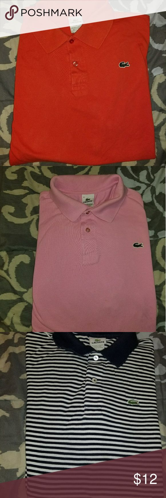 Lacoste  Polo Shirts Men's Polos in good shape Lacoste Shirts Polos