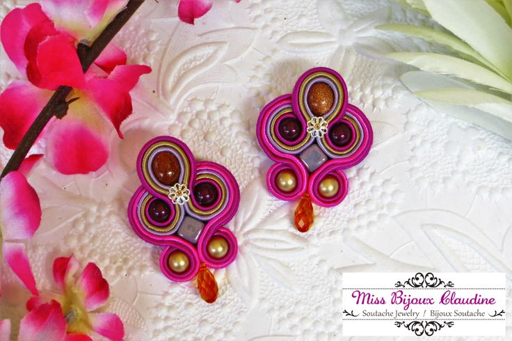 Soutache earrings - Miss Bijoux Claudine - summer 2016