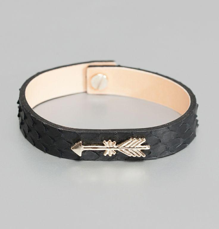 Bracelet Bettina Flèche Noir Pascale Monvoisin en vente chez L'Exception
