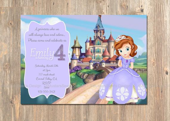 Best Disney Princess Birthday Party Invitations And Decor - Email invitation for first birthday party