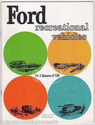 FORD RECREATIONAL VEHICLES VINTAGE RV & CAMPERS GRAPHIC ADVERTISING SALE CATALOG