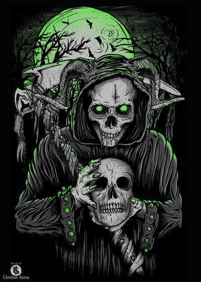 Grim colour the art of christian sonne mr bonescandy skullsskull