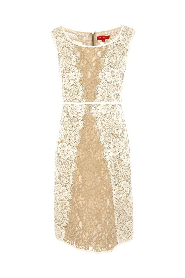 Swirly lace sections allow this Derhy dress to define more