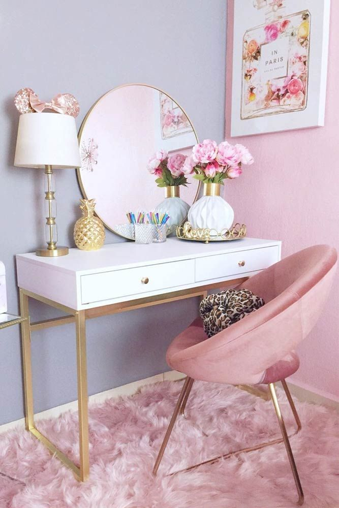 42 Makeup Vanity Table Designs To Decorate Your Home Room Decor Girl Bedroom Decor Bedroom Design