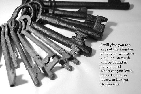 Matthew 16:19 - Inspirational Christian Art Photograph with Bible Text by EmmainWonderland, $20.00