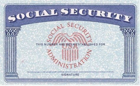 Blank Social Security Card Template Download Psd Ssn