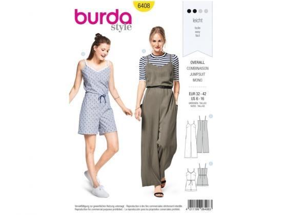 Sewing pattern overall, Burda 6408