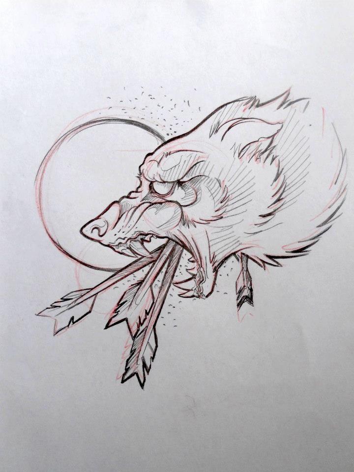 Wolf Line Drawing Tattoo : Best wolf tattoo design ideas on pinterest
