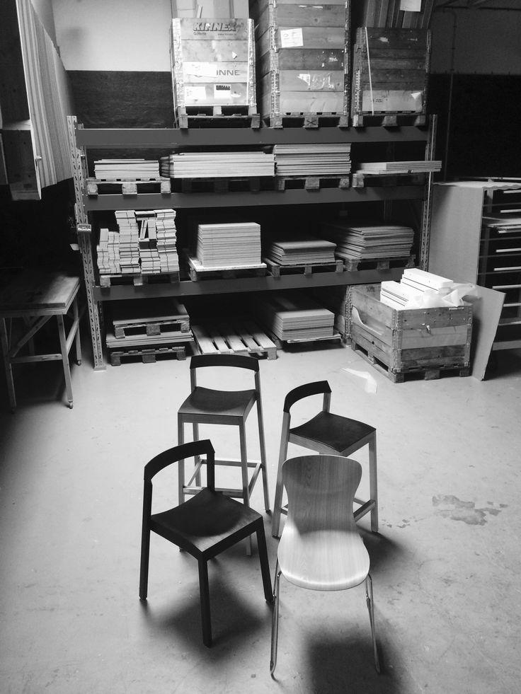 """Shooting of a new book about Swedish furniture industry. /  Idag var det fotografering av Nordic Office Design inför kommande boken """"Virserums utställningen 1947"""". Vår produktion och lager ligger i Virserum. En by som var en av Sveriges stora möbelmetropoler med över 40 möbelföretag. Idag är Nordic Office Design, den enda möbelverksamheten som finns kvar på orten. Just detta skall det skrivas om. Vi väntar med spänning på utgåvan."""