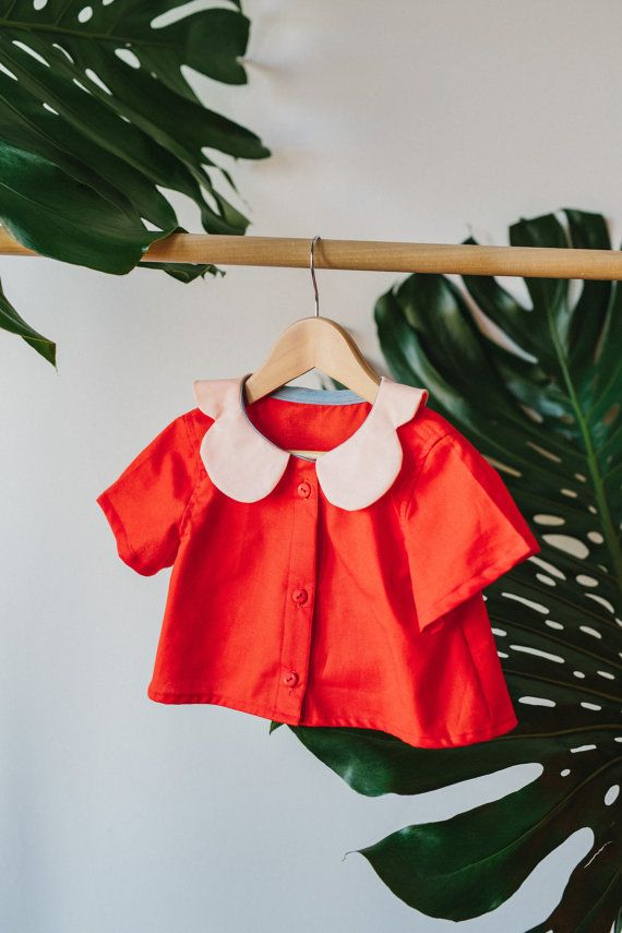 Each Peach Blouse by CharlieBirdKid on Etsy
