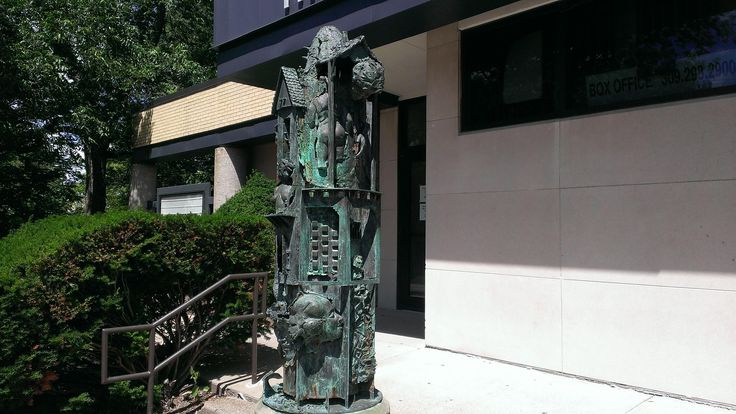 My Father's house by Preston Jackson in front of the Hainline Theater