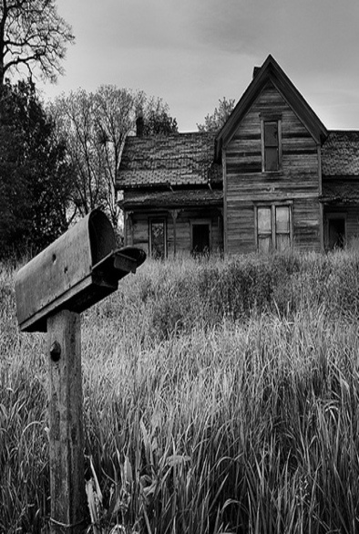 Mail Box Still Standing At Old Farm House