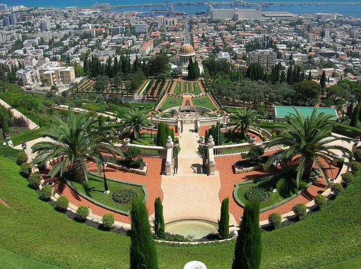 Best Attractions In Israel: The Bahai Gardens, Haifa (source: wiki)