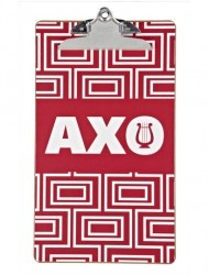 Alpha Chi Omega Sorority Clipboard, perfect for your favorite  AXO executive board member!  http://www.dormify.com/greek/alpha-chi-omega/alpha-chi-omega-sorority-clipboard-o-lyre