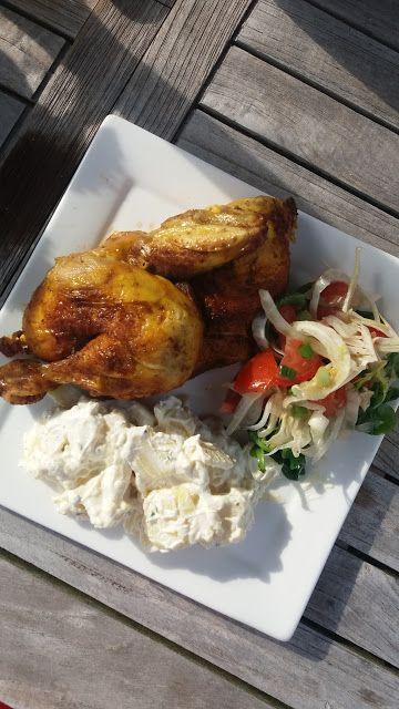 Dominique's kitchen: Gebakken koude kip met tomaat-venkelsalade en aard...