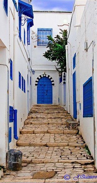 Entry in Sidi Bou Said near Tunis in northern Tunisia