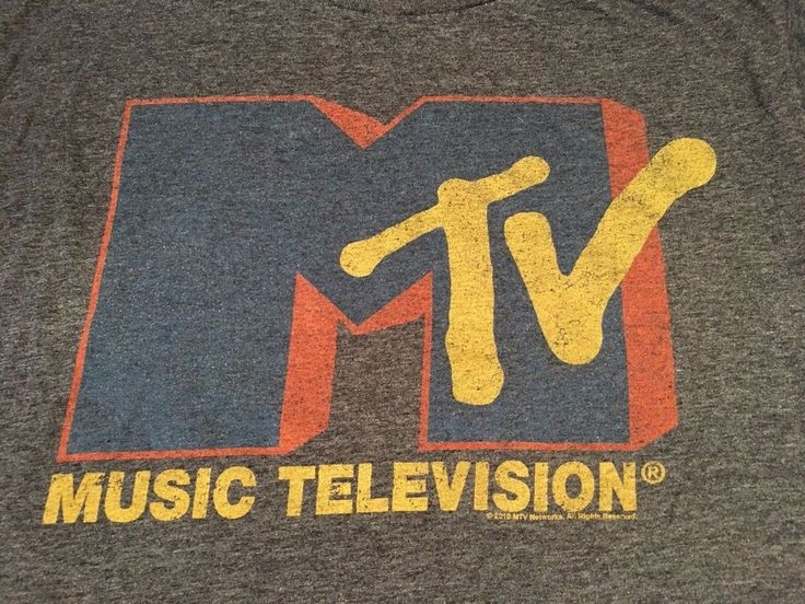 MTV Music Television T-Shirt - Old Navy Collectibilitees - Dk Gray - Size XXL #OldNavyCollectibilitees #GraphicTee