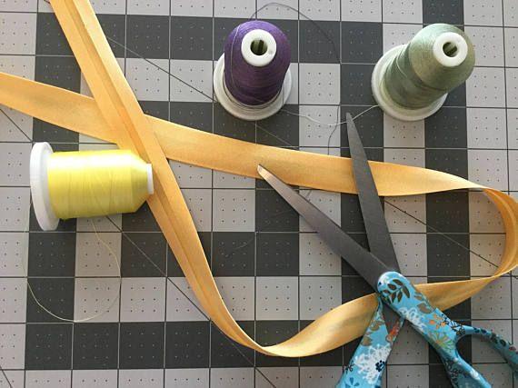Dark Golden Yellow Polyester Satin Bias Binding single fold