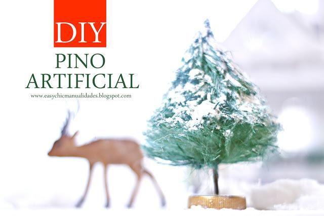 Cómo hacer pinos o árboles de Navidad artificiales en miniatura
