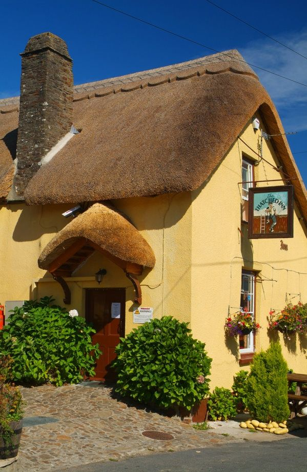 The Thatched Inn at Abbotsham, nr Bideford, North Devon is the local pub to our cottage,  Smithy Cottage. c/o NevilleStanikkphotography
