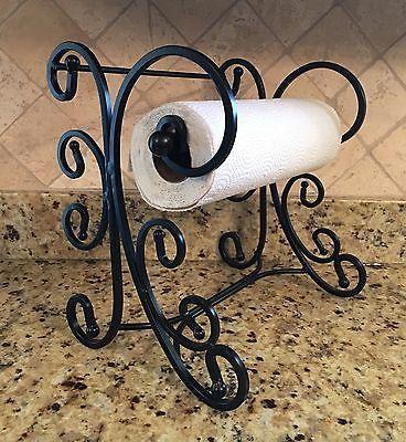 Wrought Iron Tuscan Scroll Work Paper Towel Holder in Home & Garden, Kitchen, Dining & Bar, Kitchen Storage & Organization | eBay