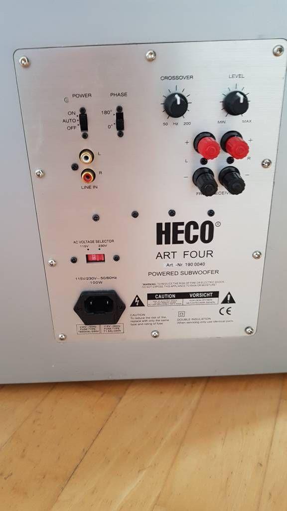 Subwoofer Heco Art Four Defekt In Hessen