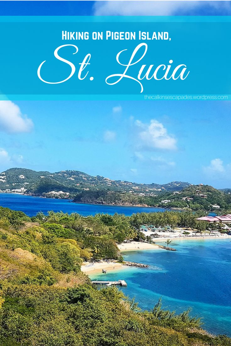 Hiking up the mountain on Pigeon Island, in St. Lucia. A gorgeous view of Rodney Bay and the yachts.