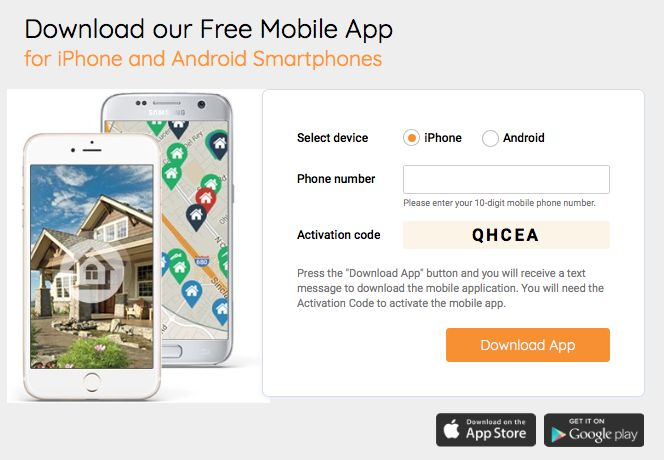 Download our Free Mobile App for iPhone and Android Smartphones search home and connect us with a click!
