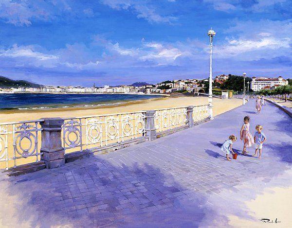 San Sebastian desde Ondarreta - On the Beach by Ricardo Sanz - Donosti, Basque Country (spain)