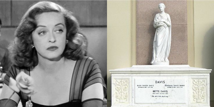 """Celebrity Gravestones & Famous Epitaphs – """"She did it the hard way"""", Bette Davis' grave in Forest Lawn Memorial Park, Los Angeles"""