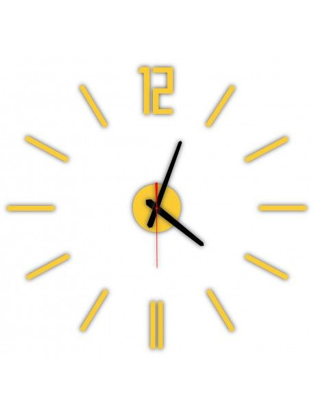 Modern wall clock LUIS, color: yellow Reference:  X0019-RAL1028-BLACK hands Condition:  New product  Availability:  In Stock  Time to change! Decorating watches will revive every interior, highlight the charm and style of your space. Discover your living with new clocks. Plexiglass wall clocks are a wonderful decoration of your interior.
