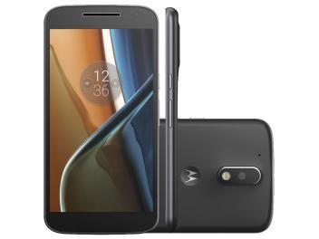 """Smartphone Motorola Moto G 4ª Geração 16GB Preto - Dual Chip 4G Câm. 13MP + Selfie 5MP Tela 5.5"""""""