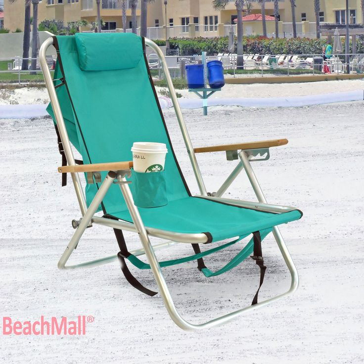 These chairs are awesome- we saw them at the beach today and have to get them! WearEver Deluxe Aluminum Backpack Chair with Large Storage Pocket - Teal  sc 1 st  Pinterest & 14 best Backpack Chairs images on Pinterest | Beach chairs Lounge ...