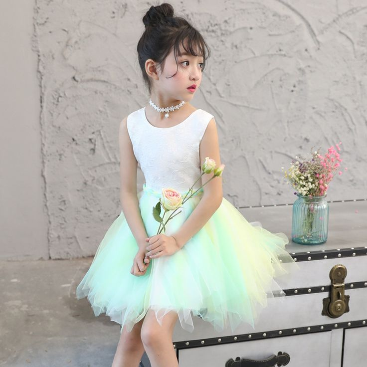 >> Click to Buy << Girls Show Princess Dress Baby Summer Rainbow Dress Group Purchase Wholesale Costumes 4-10 Years #Affiliate