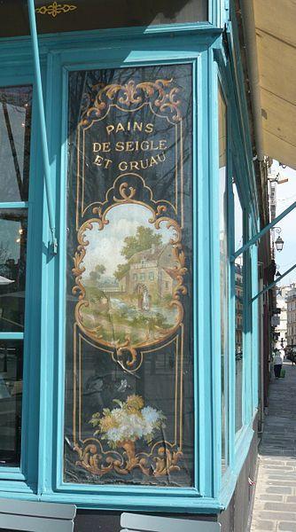 Ancienne devanture de boulangerie 62 rue de l'Hotel-de-ville Paris 4