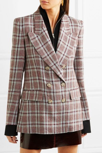 Isabel Marant Étoile | Ianey checked linen blazer | NET-A-PORTER.COM