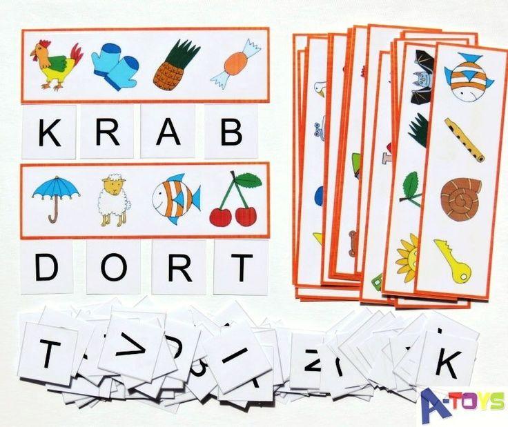 zábavné a napínavé hádanky - odkrývání skrytých slov. Sada 120 zalaminovaných kartiček (obrázkové listy + písmena) ke skládání slov ! Přiřaďte na list na každý obrázek jeho počáteční písmeno a zobrazí se vám skryté slovo. Velká zábava pro děti, které takové ...