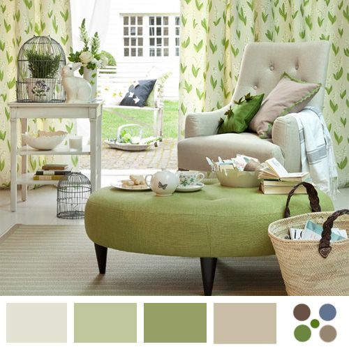 Decoración paleta color verde claro