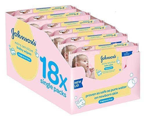 johnsons extra sensitive baby wipes