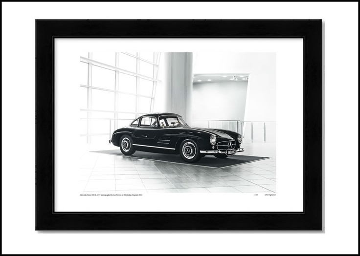 MERCEDES 300 SL, limited edition print. http://shop.leepowers.com/collections/automotive/products/mercedes-300-sl