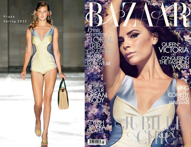 Victoria Beckham on Harper's Bazaar cover for May 2012 now on fashionoodles.wordpress.com