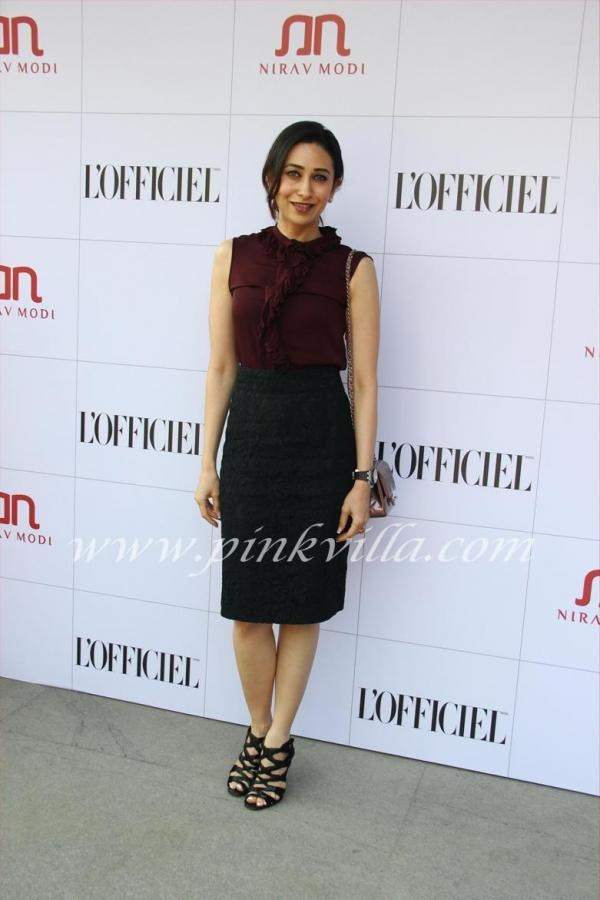 Karisma Kapoor at the luncheon for Nirav Modi Jewels by L'Officiel India