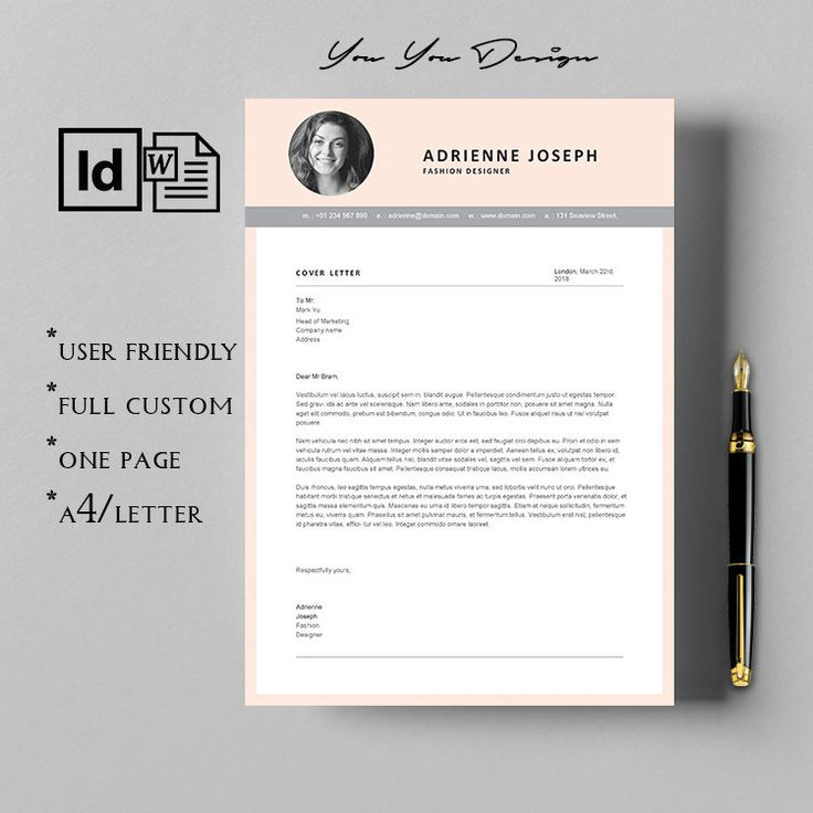 Resume For Fashion Designer Cover Letter And Resume Template Modern Resume Cover Letter Portfolio Template Design Fashion Design Portfolio Portfolio Design
