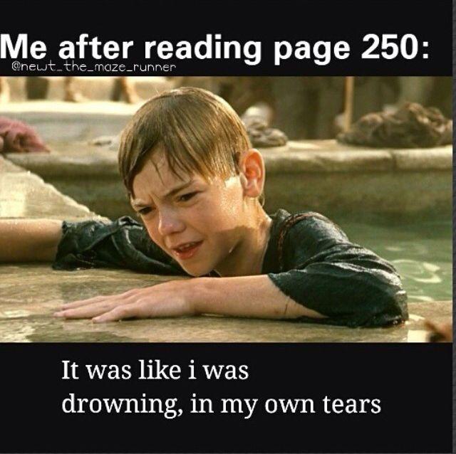 Era como sí me estuviera ahogando en mis propias lágrimas