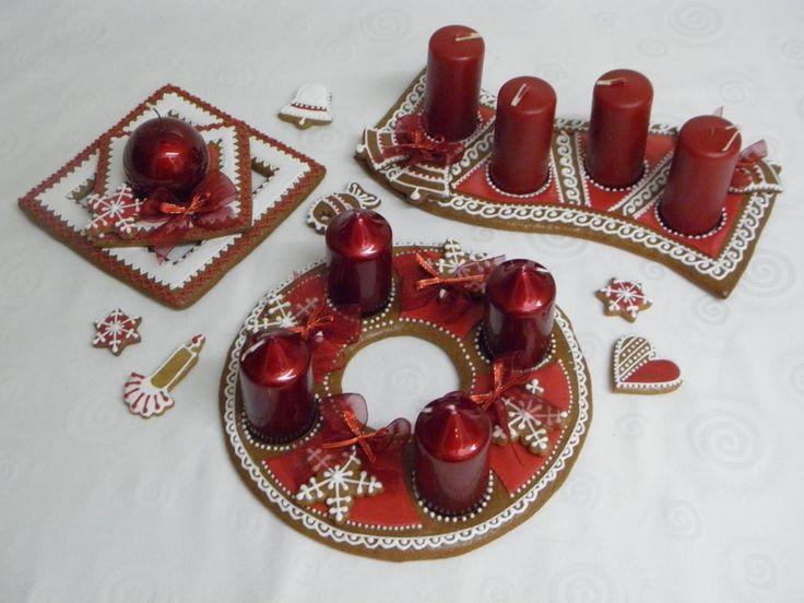 Adventní svícny červené
