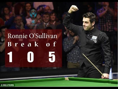 Ronnie O'Sullivan Break of 105 In world Championship VS John Higgins | B...